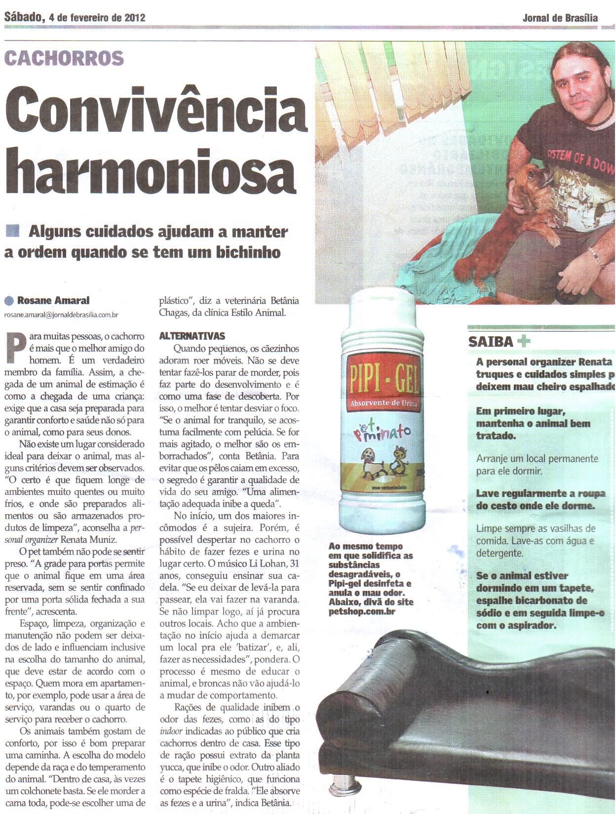 FEV/2012-Jornal de Brasília- Caderno Tudo Casa