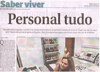 JAN/ 2012.Jornal Correio Braziliense - Caderno Saber Viver