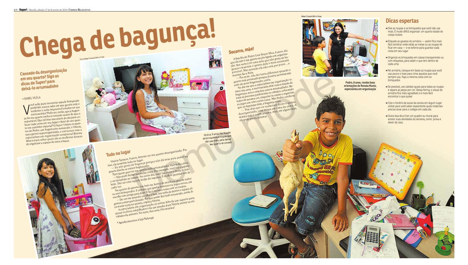 FEV/2010.Matéria do Jornal Correio Braziliense Caderno Super .